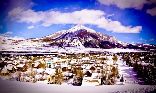Downtown and Crested Butte Mountain