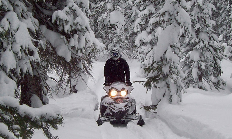 Snowmobiling in Crested Butte